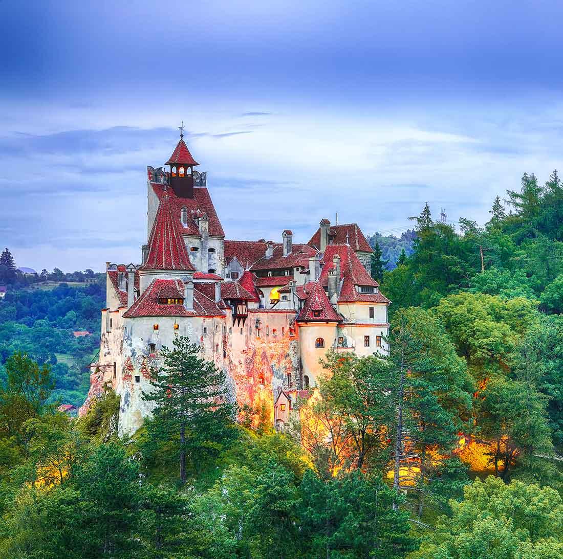 Castillo de Drácula vacuna visitantes